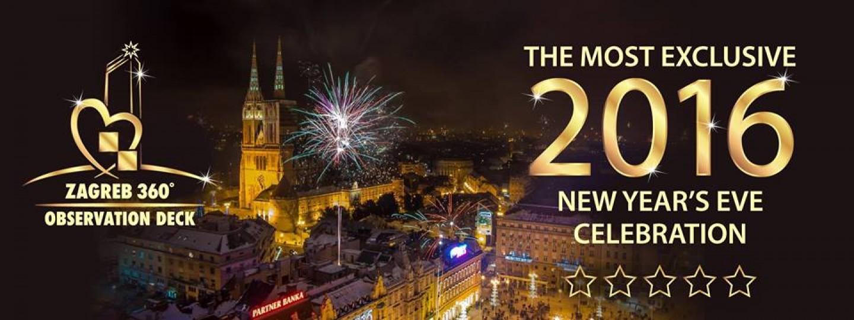 Spektakularan doček Nove 2016. godine u Zagrebu
