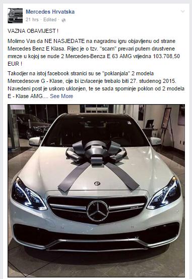 Mercesdes Hrvatska Facebook