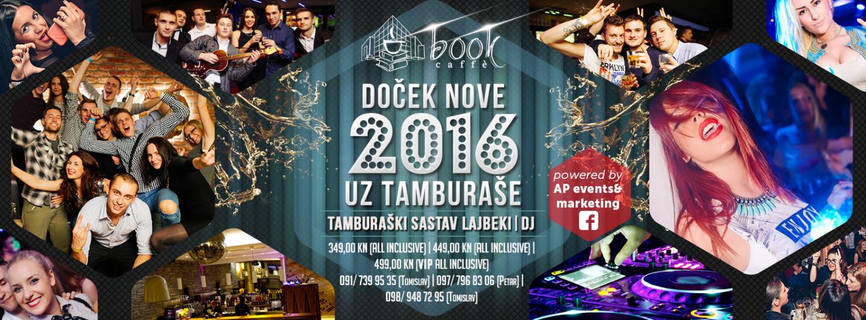 Doček Nove godine uz tamburaše u Book caffeu u Zagrebu
