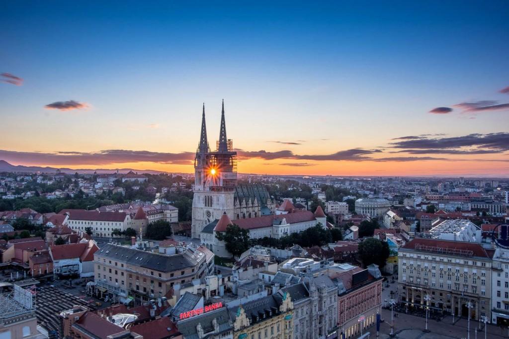 svitanje Zagreb katedrala Vidikovac