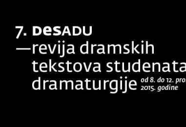Počinje DeSADU: sedma revija dramskih tekstova studenata dramaturgije