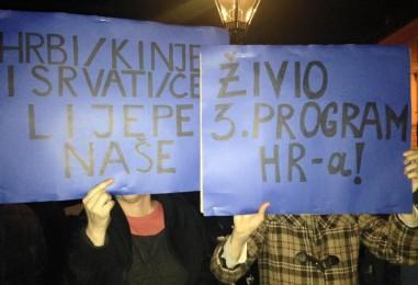 2000 'izdajnika' prosvjeduju na Markovom trgu protiv nove vlasti