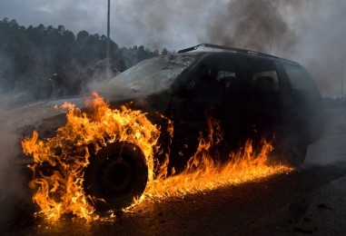 Požar osobnog automobila u Sesvetama