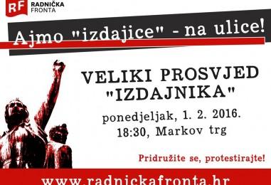 Veliki prosvjed 'izdajnika' protiv nove vlasti