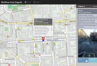 Interaktivna biciklistička karta – pomozite u popunjavanju karte informacijama