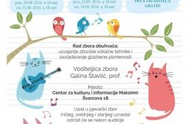 Umjetnost zborskog pjevanja – audicije za djecu