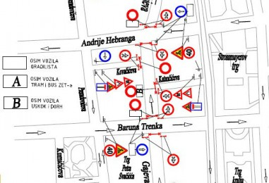 Radovi u Gajevoj ulici od 16. 09. do 16. 11.