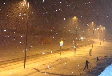 PRVE PAHULJE U HRVATSKIM GRADOVIMA Snježni pokrivač na Sljemenu