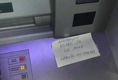 Zagrepčanin pronašao novac na bankomatu, a onda je ostavio poruku…