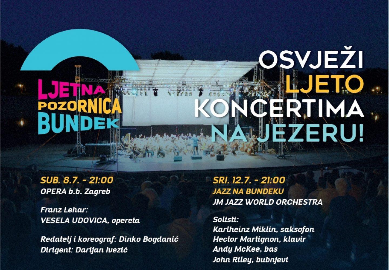 Od ove subote 8.7. osvježite ljeto koncertima na Bundeku!