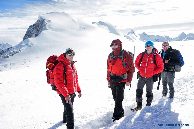 FOTO Hrvatski tim penjača osvojio vrh Breithorn u Švicarskoj!