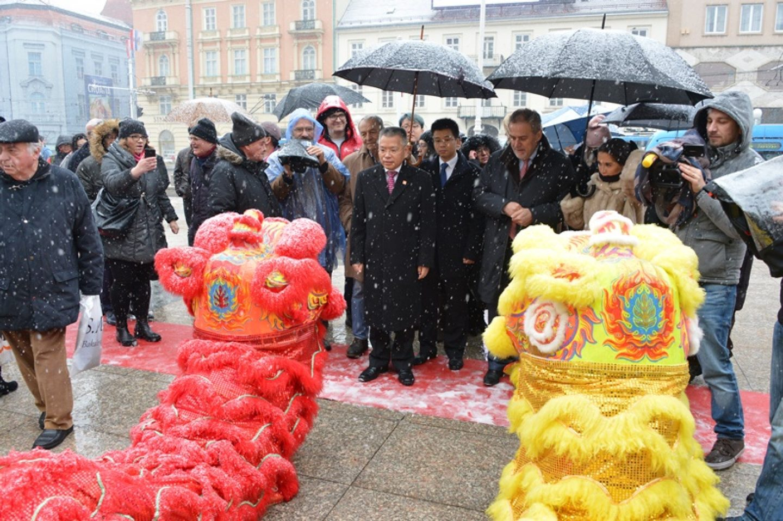 Na glavnom zagrebačkom trgu obilježena kineska Nova godina