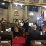 Prvo darivanje krvi učenika zagrebačkih srednjih škola; SVEČANO u Gradskoj skupštini