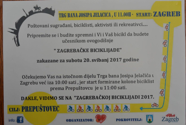 U subotu tisuće biciklista kreću s Trga na Zagrebačku biciklijadu u Prepuštovec