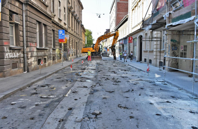Zbog radova, Ulica Medveščak bit će zatvorena za promet do 8. kolovoza