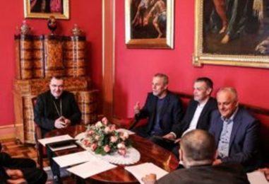 Susret kardinala Bozanića i gradonačelnika Bandića
