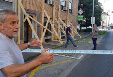Bandić obišao zgradu u Kranjčevićevoj kojoj je napuknula fasada