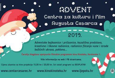 Advent Centra za kulturu i film Augusta Cesarca 2019.