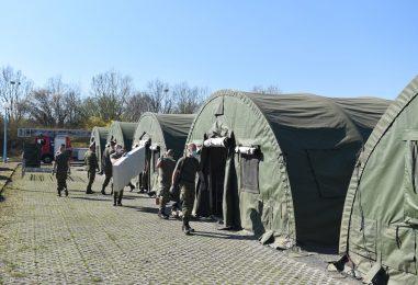 Hrvatska vojska podigla ekspedicijski kamp i šatore ispred KB Dubrava