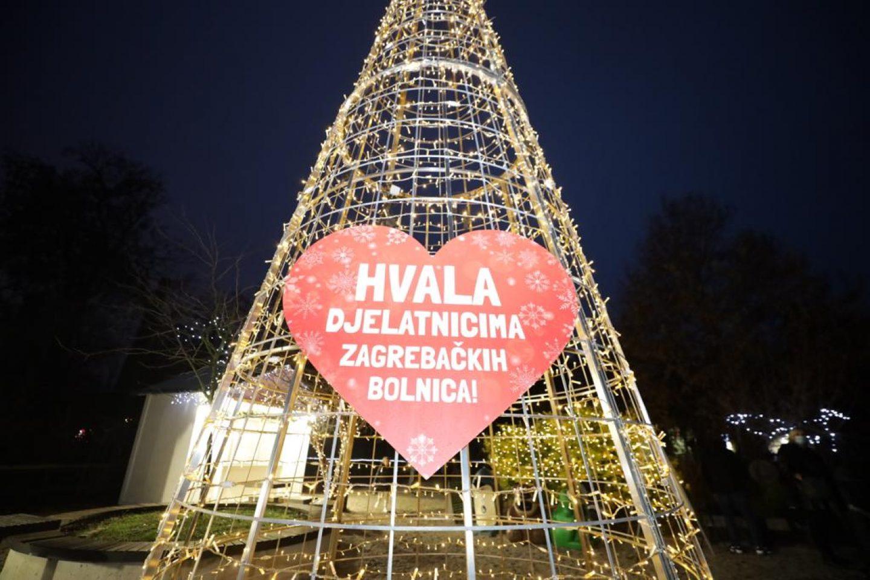 Simbolično označavanje početka Adventa u Zagrebu